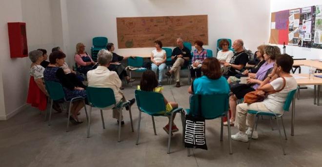 Asistentes al primer Encuentro del Club de Lectura, el 29 de junio de 2017